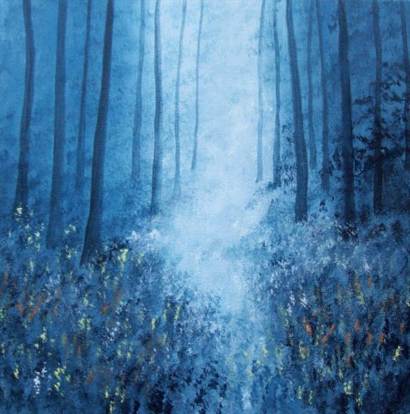 Blue Forest Light by Patricia Richards
