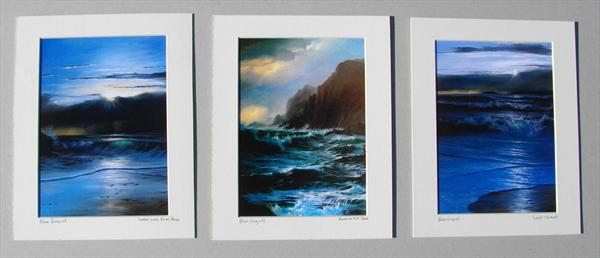Set of Three Seascape Prints by Alan Kingwell