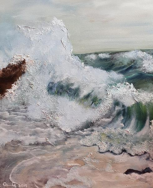 Curled wave by Carol Gaston