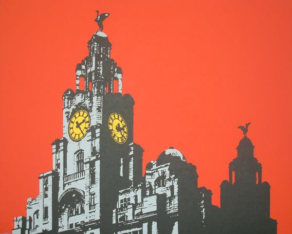 Liver Building In Red by Paul Francis