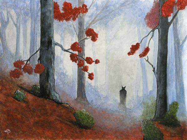 Creature in the woods by Lorna Robertson