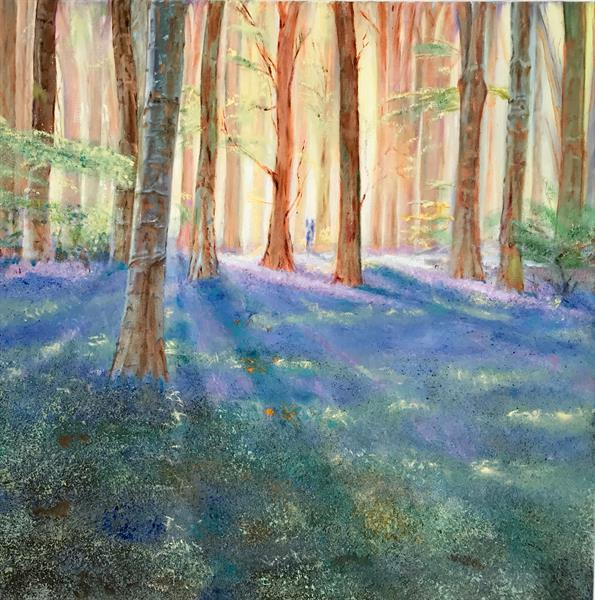 A walk through spring woods by Victor White