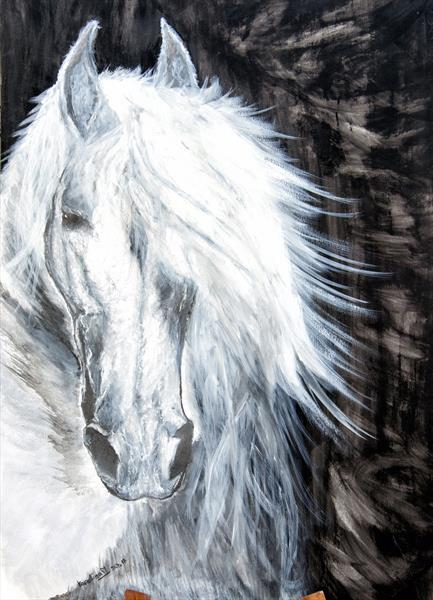 watercolour horse by Caroline  Melerska