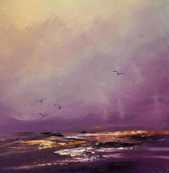 Scottish West Coast Study in oil by Marjory Sime  by Marjory Sime