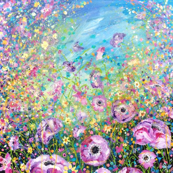 Lilac and Lemon Meadow # Resin by Janice  Rogers