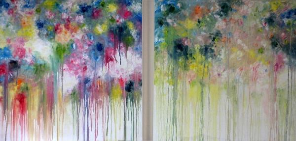 The Haven We Seek (X-Large Diptych) by Hester Coetzee