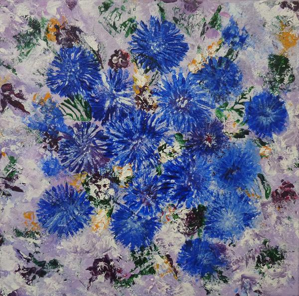 Blue Flowers by Sonal Garg