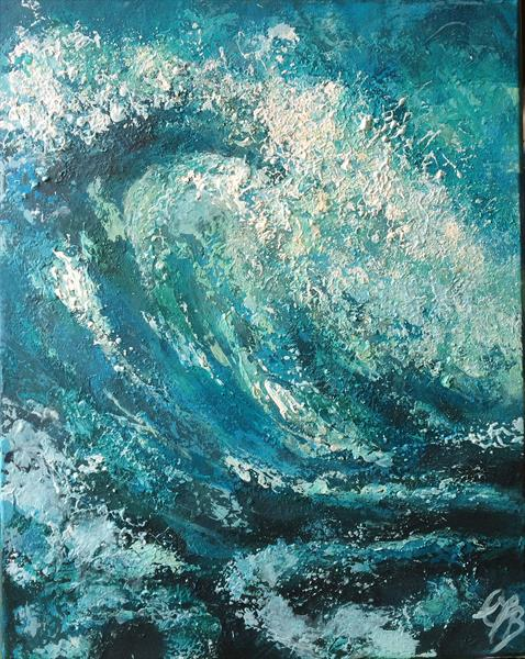 Wave Study by Colette Baumback