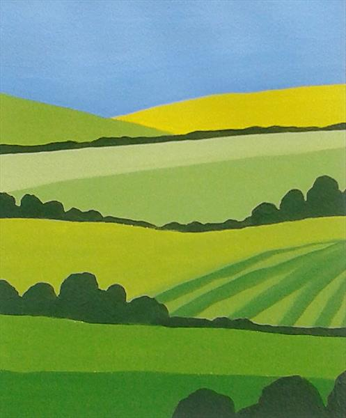 Surrey Landscape 7 by Jan Rippingham