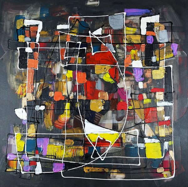 Expressive automatism abstract 867 by Eraclis Aristidou