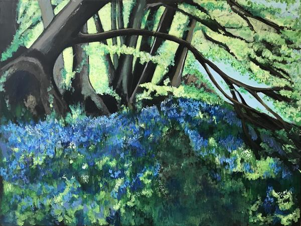 Dorset Bluebell Woods by Eileen Kiely