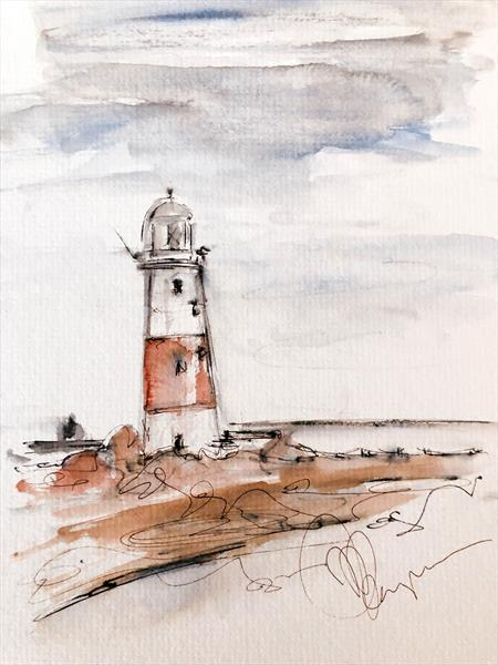 Portland Bill Lighthouse 2 by Wendy Thompson
