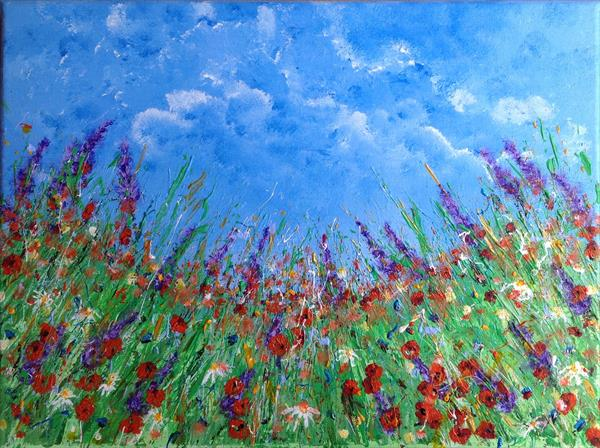 Flowers Under Blue Skies by Tina Hiles