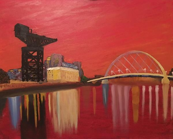 River Clyde Sunset by Dennis Macdonald