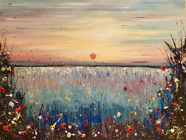 Meadow at dusk  by Pippa Buist