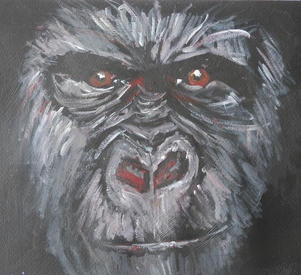 Gorilla Out of the Darkness by Caroline Skinner