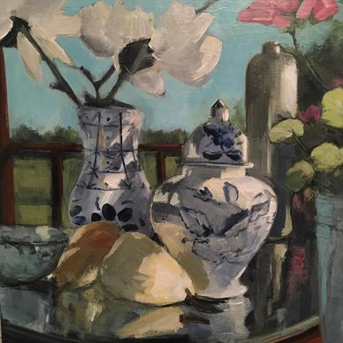 Still Life with Pears by Pam Smallshaw