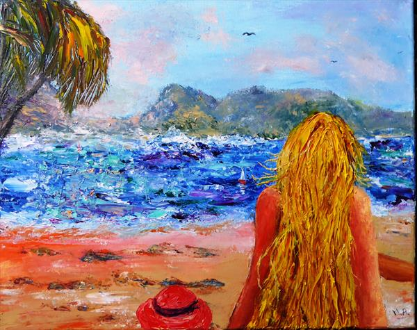 Gazing out to sea... by Mary Ann Day