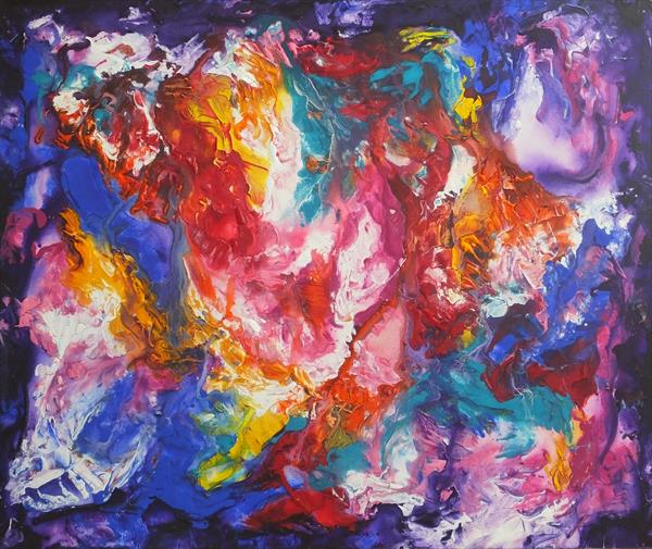 Perfection (Very Large Abstract Art) by Hester Coetzee