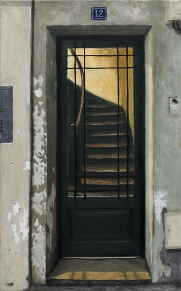 A Doorway In The Marais, Paris by Andrew Mcneile Jones