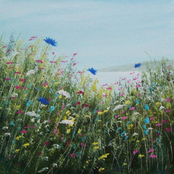 Clifftop Wild Flowers by Patricia Richards