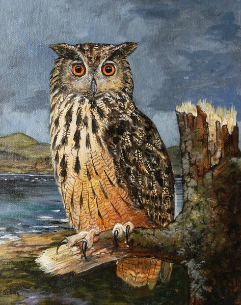 Eagle Owl by Wendy Sabine