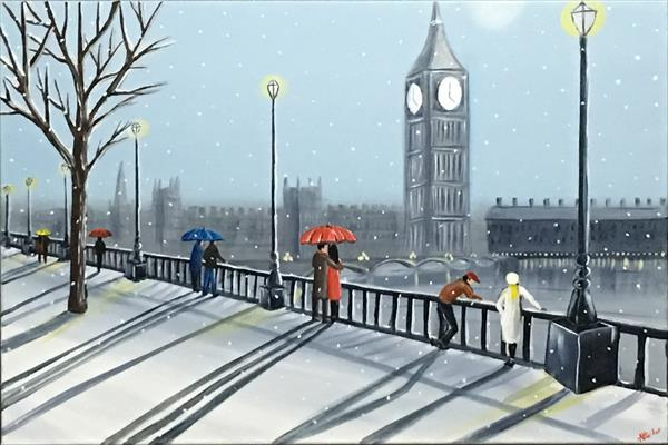 Snowing In London 2 by Aisha Haider
