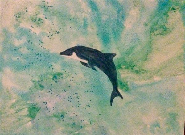Happy dolphin by Denise Windle