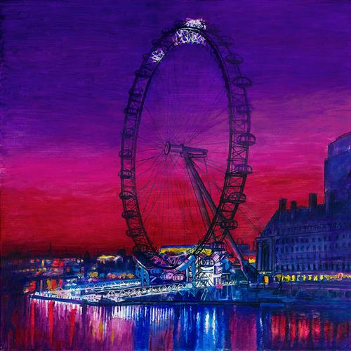 The Wheel London Skyline (Large ) by Patricia Clements