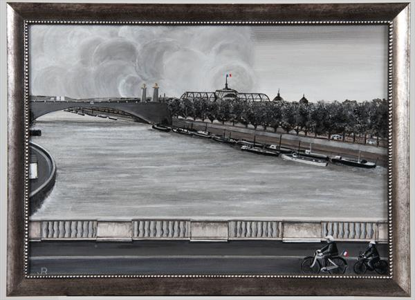 After The Attack The Seine by John Krachai