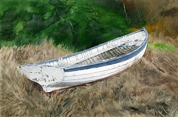 The White Boat Under the Firs by Andrew Dibben