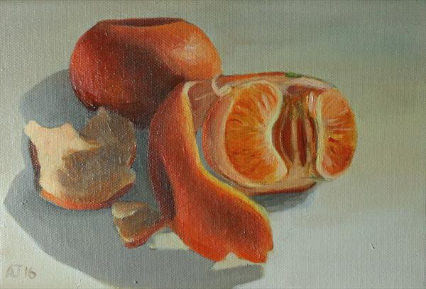 A Couple of Mandarins Still Life by Alex Jabore