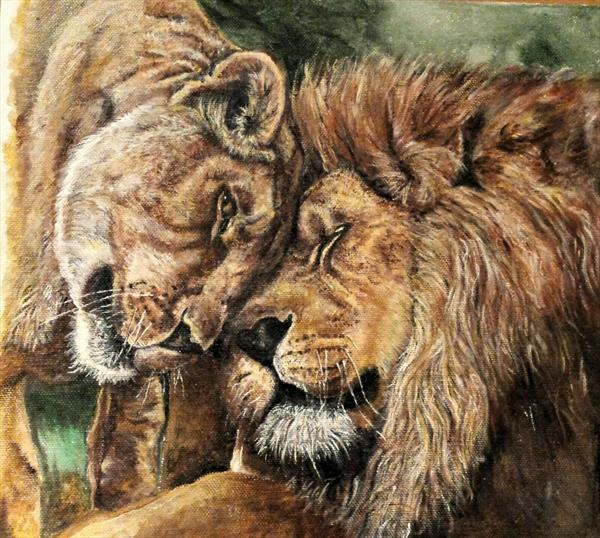 Lions by Claire Farmer