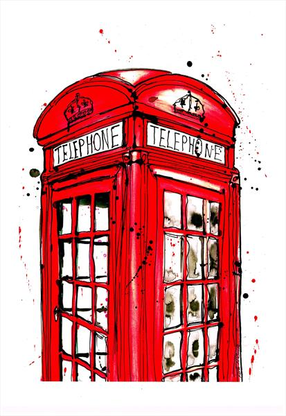 red phonebox  by Keith Mcbride