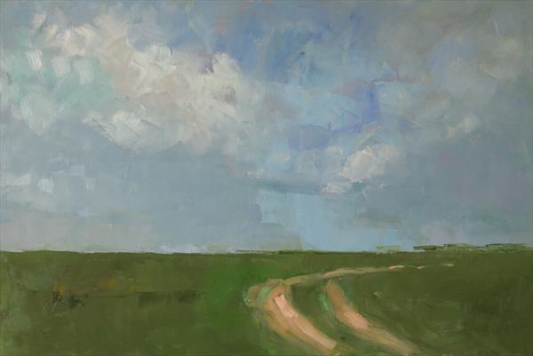 Track at the Long Furlong/Skyscape by Andre Pallat