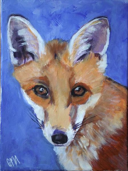 Young fox by Gill Aitken