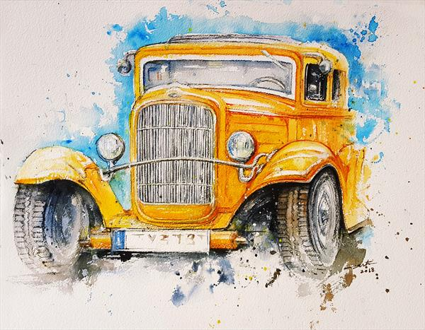 Yellow Truck by Arti Chauhan