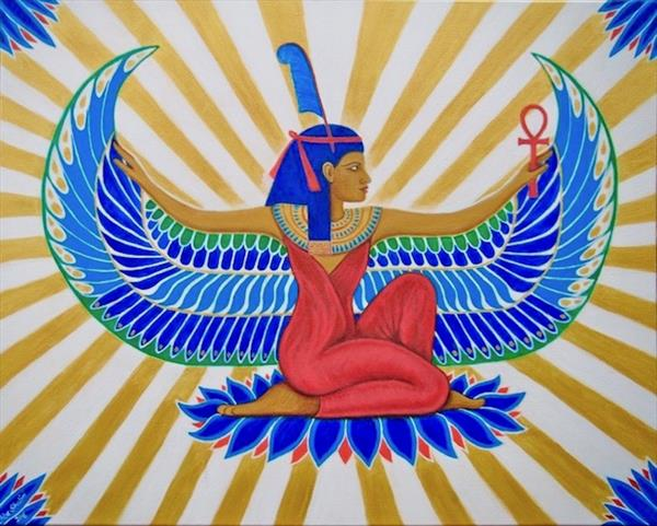 Egyptian Goddess Maat, Truth & Balance by Chloe  Shalini