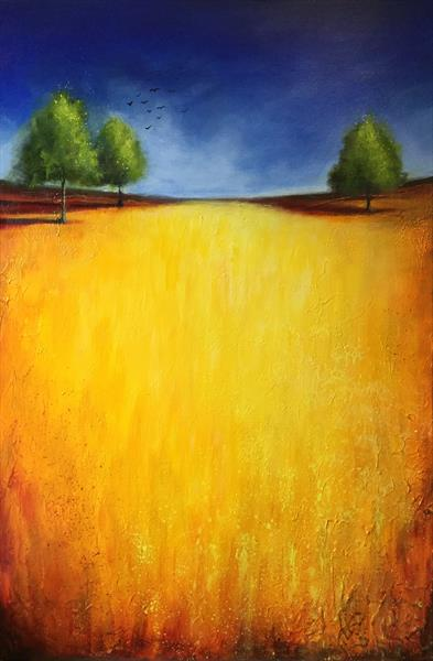 Golden field  by JANE PALMER
