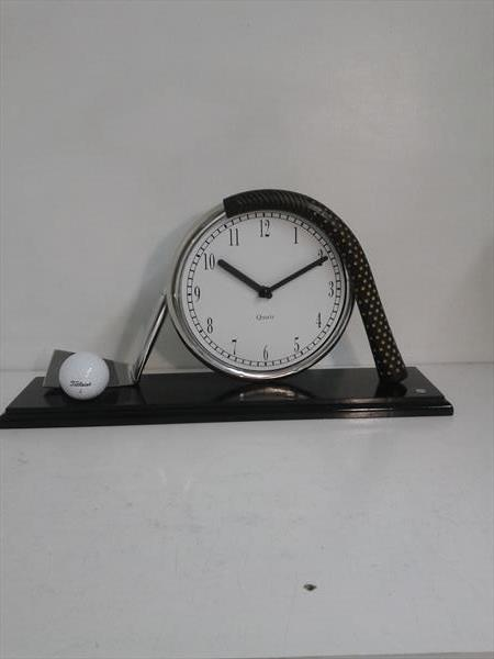 Golf club mantel clock by Malcolm Hull