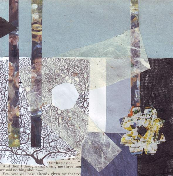 Blue Collage 4 by Mary Adam