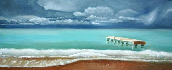 Stormy Sky At Nice by Mary Stubberfield