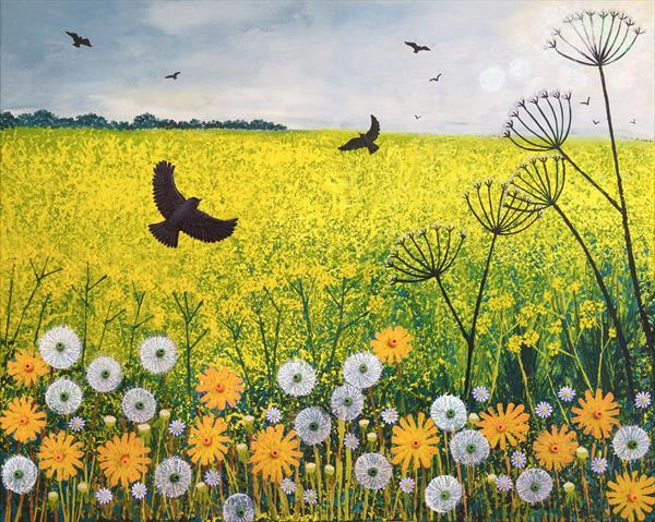 Flying Over Golden Fields by Josephine Grundy