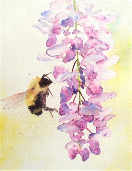 Bumble Bee Wisteria