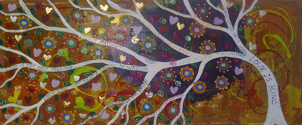 The Tree of Love in the Magical Sky by Casimira Mostyn