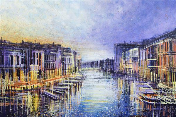 Venice - The Grand Canal At Sunset by Marc Todd