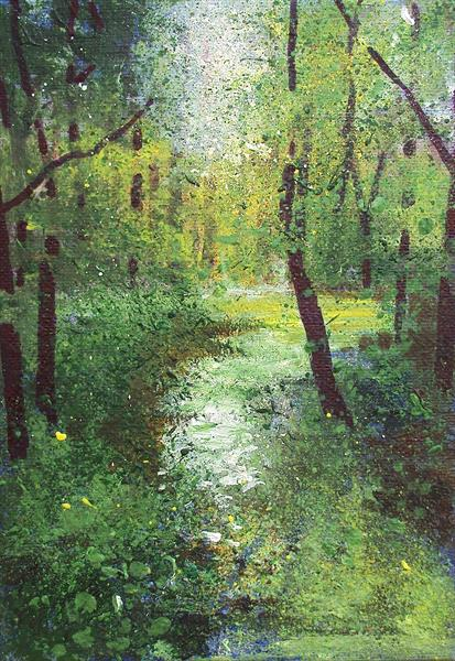 Woodland Pond small by Teresa Tanner