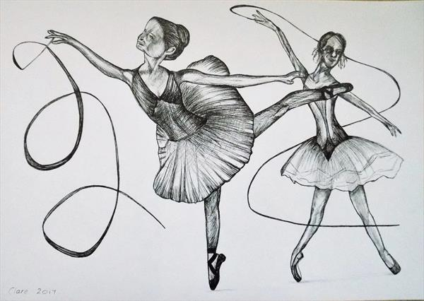 Dancers In Black by clare reed