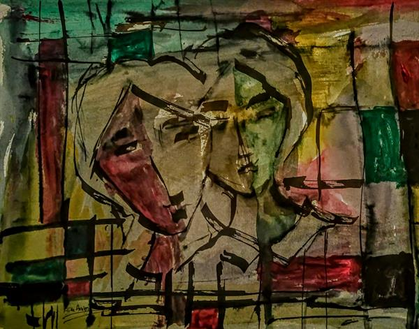 The Couple in Abstract 2 by Artistic Biplob (Asm Ambia)