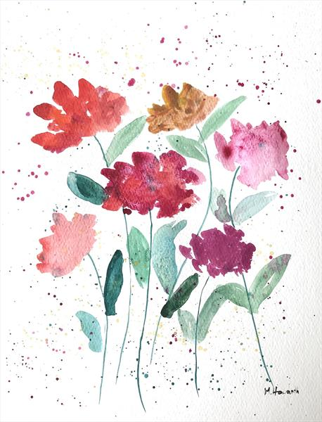 Colourful flowers nr 2 by Monika Howarth